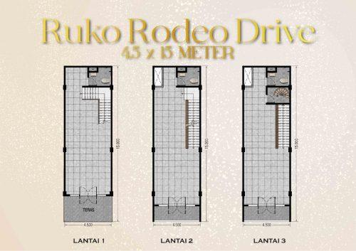 Tipe Unit Ruko Rodeo Drive – Ebony 2 Pantai Kita PIK2 (1)