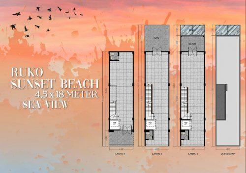 Tipe Unit Ruko Sunset Beach – Ebony 2 Pantai Kita PIK2 (1)