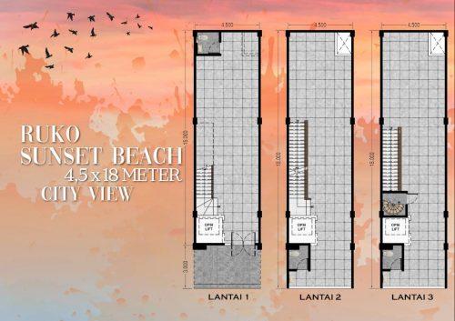 Tipe Unit Ruko Sunset Beach – Ebony 2 Pantai Kita PIK2 (2)